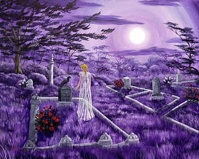 Lenore In Lavender Moonlight Poster