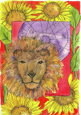Poster featuring the painting Leo by Cathie Richardson