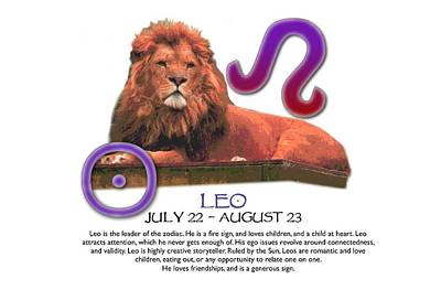 Leo Sun Sign Poster