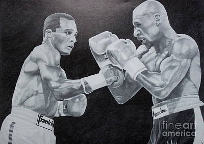 Leonard And Hagler Poster