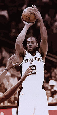 Leonard And The Spurs Poster