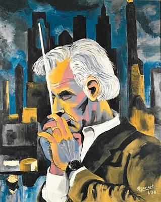 Leonard Bernstein Portrait Poster