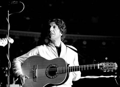 Poster featuring the photograph Leonard Cohen 1976 Royal Albert Hall by Chris Walter