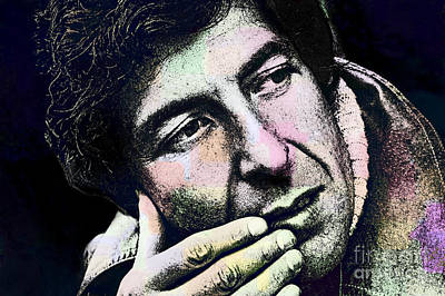 Leonard Cohen - Drawing Tribute Poster by Ian Gledhill