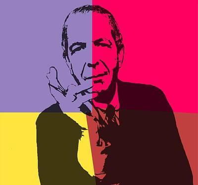 Leonard Cohen Pop Art Panels Poster