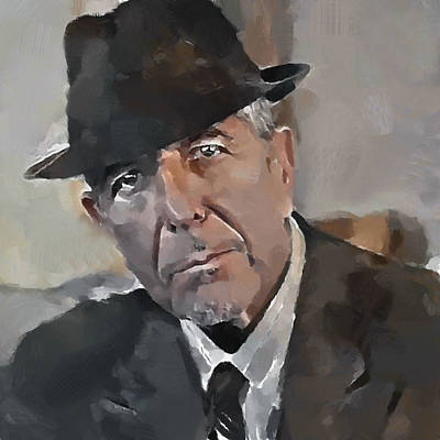 Leonard Cohen Tribute 4 Poster by Yury Malkov
