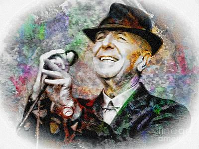 Leonard Cohen - Tribute Painting Poster