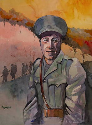 Poster featuring the painting Leonard Keysor Vc by Ray Agius