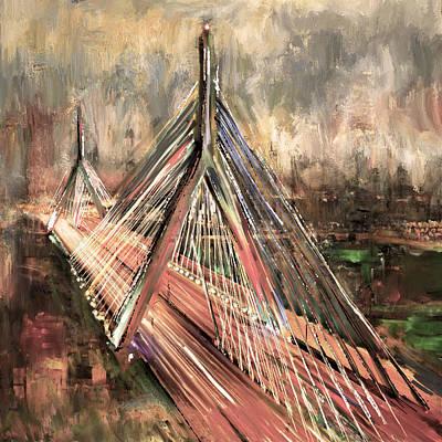Leonard P. Zakim Bunker Hill Memorial Bridge 219 3 Poster