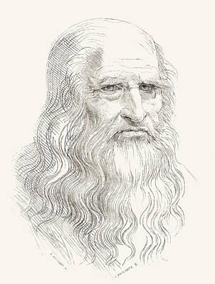 Leonardo Di Ser Piero Da Vinci, 1452 Poster by Vintage Design Pics