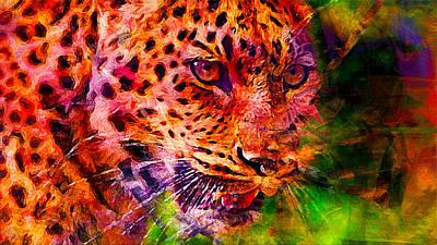 Leopard Poster by Elena Kosvincheva