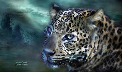 Leopard Moon Poster by Carol Cavalaris
