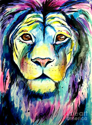 Leroy The Lion Poster by Abbi Kay
