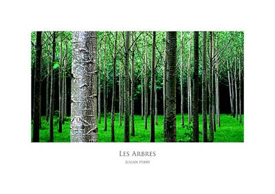 Poster featuring the digital art Les Arbres by Julian Perry