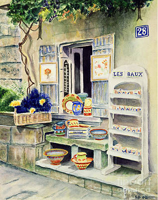 Les Baux Poster by Karen Fleschler