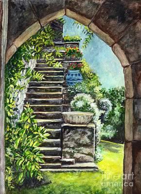 Les Escaliers En Bandouille In Sevres France  Poster by Carol Wisniewski