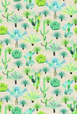 Les Jardins Majorelle  Cacti Poster
