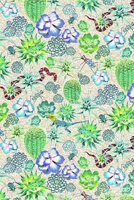 Les Jardins Majorelle  Succulents Poster