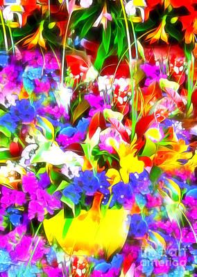 Les Jolies Fleurs Poster