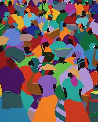 Les Palmes Market Haiti Poster