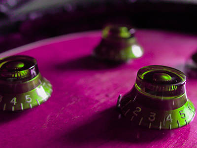 Guitar Controls Series Pink And Green Poster