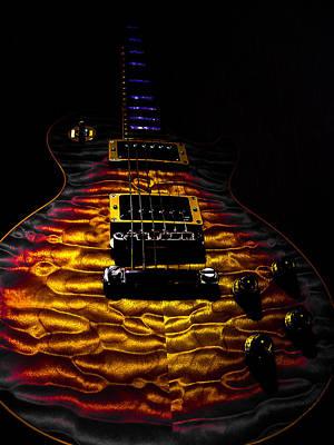 Tri-burst Quilt Top Guitar Spotlight Series Poster
