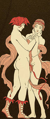 Les Remords Poster by Georges Barbier
