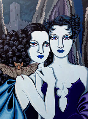 Les Vamperes Bleu Poster by Tara Hutton