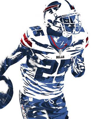 Lesean Mccoy Buffalo Bills Pixel Art 2 Poster