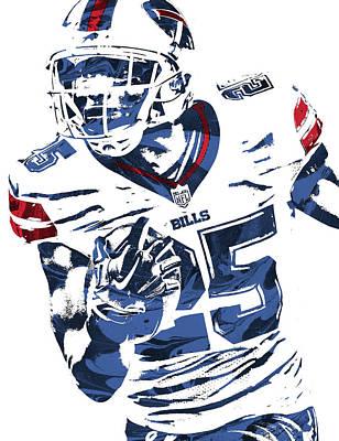 Lesean Mccoy Buffalo Bills Pixel Art Poster