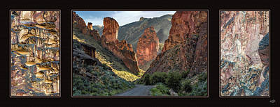 Leslie Gulch Triptych Poster by Leland D Howard