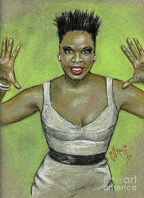 Poster featuring the drawing Leslie Jones by P J Lewis