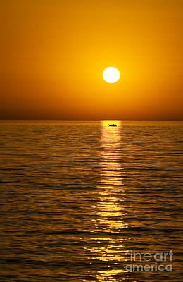 Lesvos Sunset Poster by Meirion Matthias