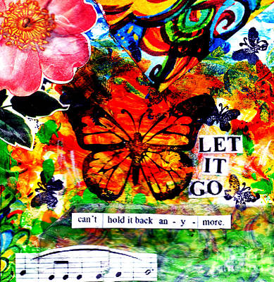 Poster featuring the mixed media Let It Go by Genevieve Esson