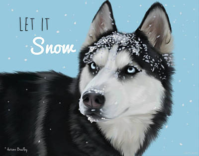 Let It Snow Poster by Autumn Bradley