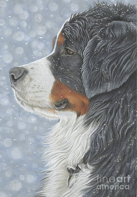 Poster featuring the painting Let It Snow by Donna Mulley