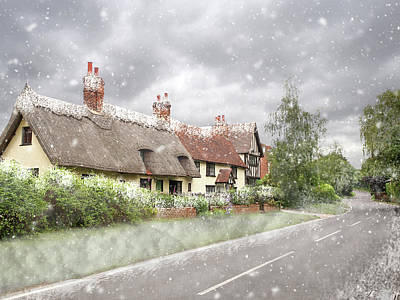 Let It Snow - Essex Country Roads Poster by Gill Billington