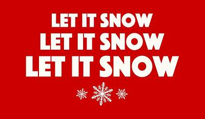 Let It Snow With Snowflakes Poster by Heidi Hermes