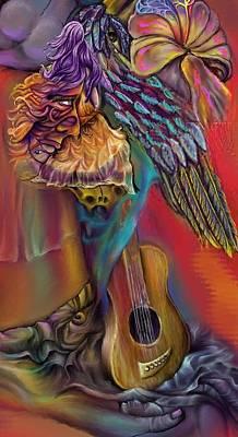 Poster featuring the digital art Let Me Go Detail by Karen Musick