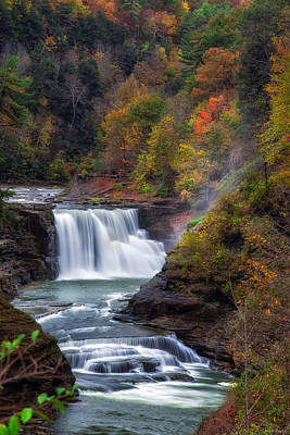 Letchworth Lower Falls 3 Poster