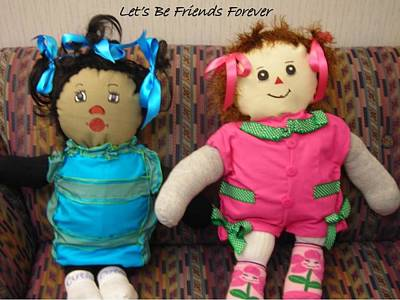Let's Be Friends Forever Poster by Cynthia Parker