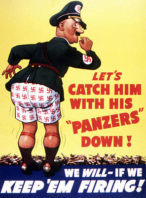 Let's Catch Him With His Panzers Down Poster by American School