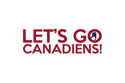 Let's Go Canadiens Poster