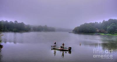 Lets Go Fishing Lake Oconee Fishing Art Poster by Reid Callaway