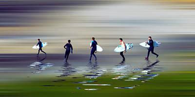 Lets Go Surf Poster