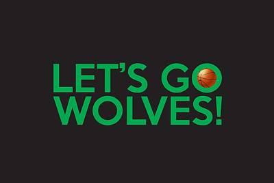 Let's Go Wolves Poster