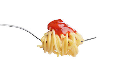 Let's Have A Pasta With Ketchup Poster by Vadim Goodwill