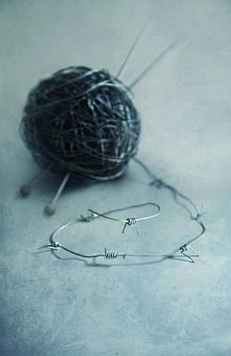 Lets Knit A Bit Poster by Jaroslaw Blaminsky