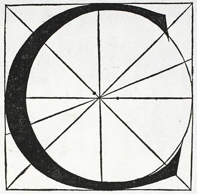 Letter C Poster by Leonardo Da Vinci