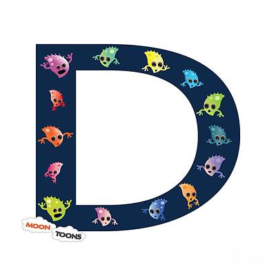 Letter D Poster by Moon Toons